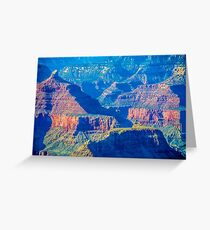 grand canyon peaks at sunset Greeting Card