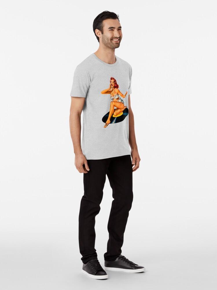 Vista alternativa de Camiseta premium Diosa del Rockabilly