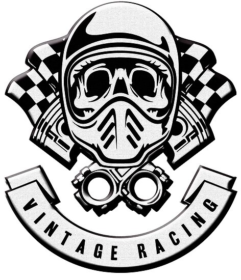 print vintage vr skull racing posters by cristianocosta redbubble