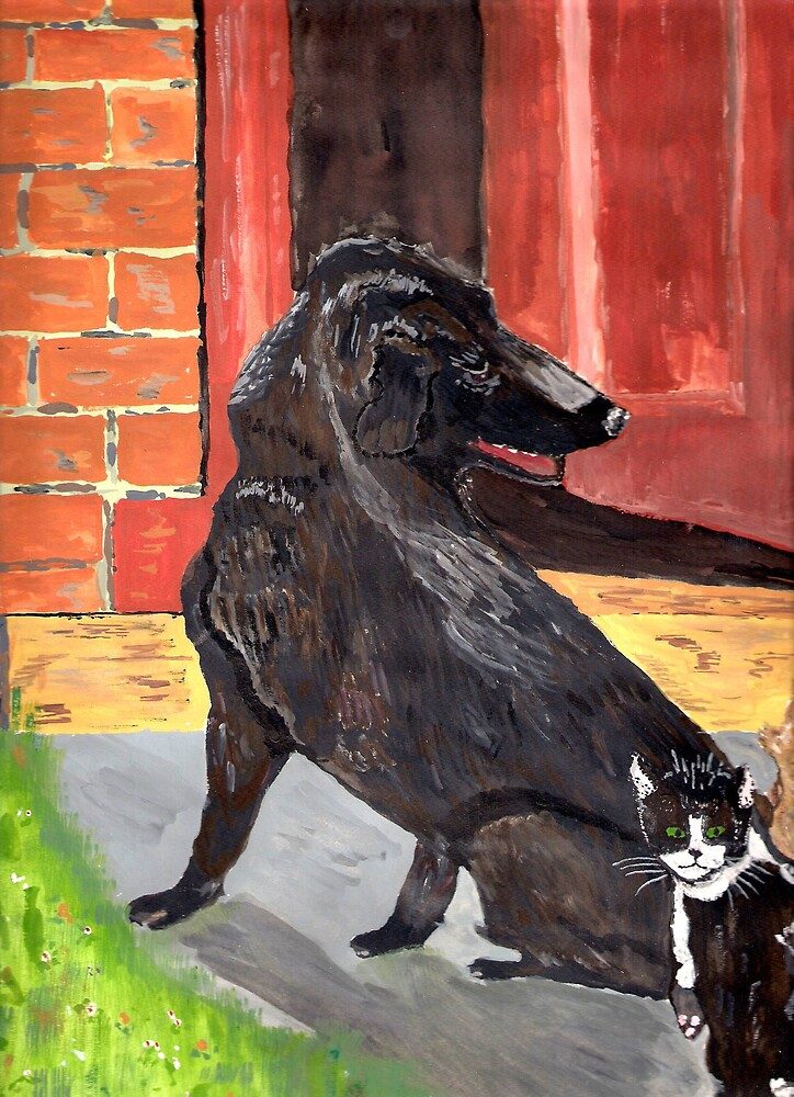 Dog and Cat by GEORGE SANDERSON