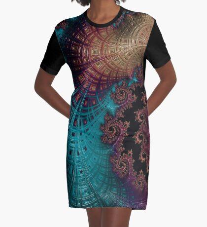 Seasons of the Sky Graphic T-Shirt Dress