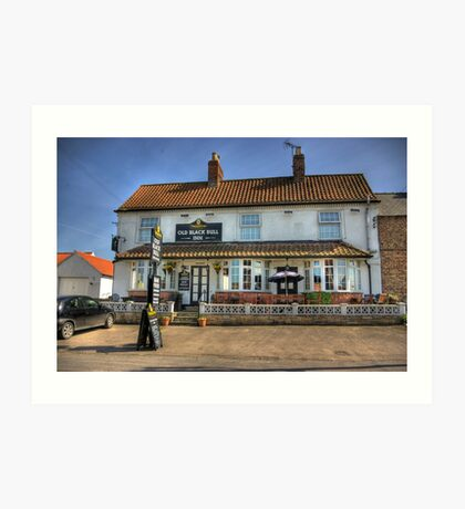 Old Black Bull Inn - Raskelf near York Art Print