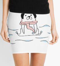 Minifalda nadador pug ilustración handdrawn perro