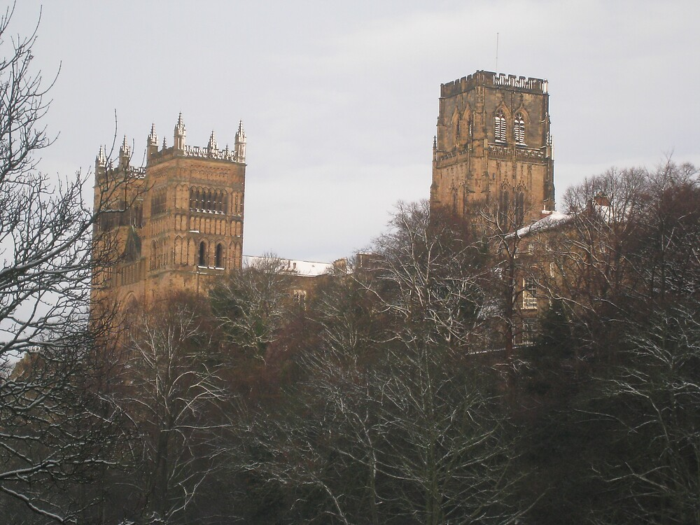 durham cathedral in the snow by mzungu