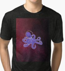 Space octopus Tri-blend T-Shirt