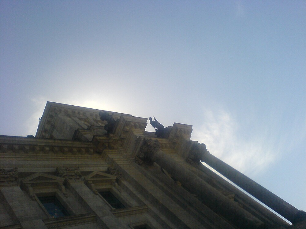 sky over Reichstag by woodgreenforest
