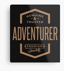 Adventurer - Funny Job and Hobby Metal Print