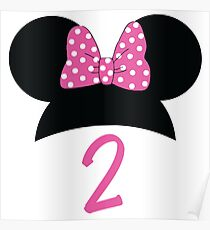 Minnie Mouse 2nd Birthday Poster