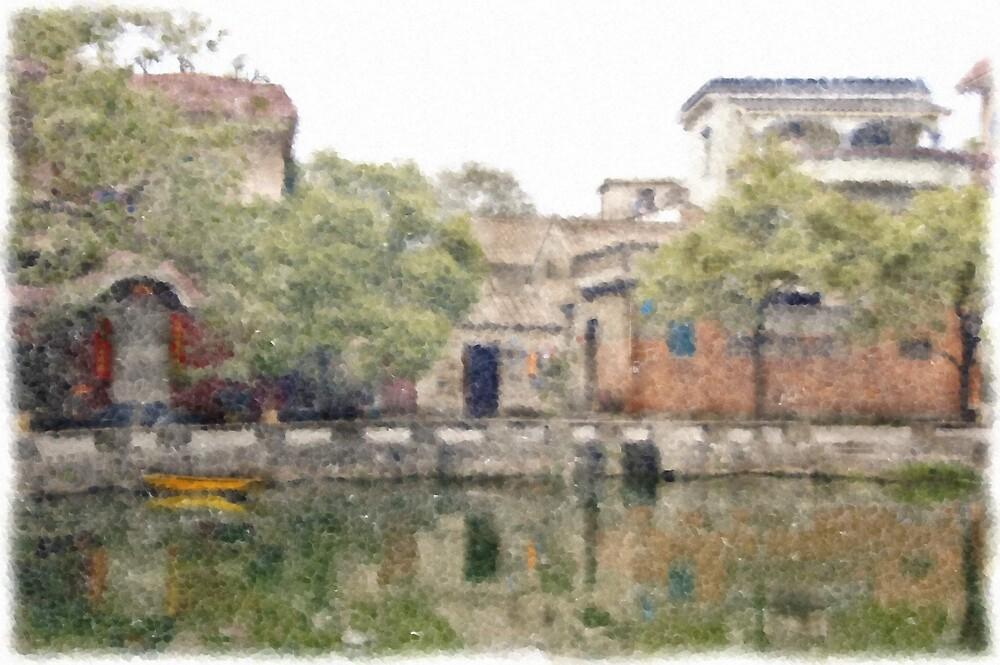 Village by the pond by bginch88