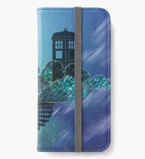 Blue Box in the Victorian Sky iPhone Wallet/Case/Skin