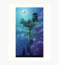 Blue Box in the Victorian Sky Art Print