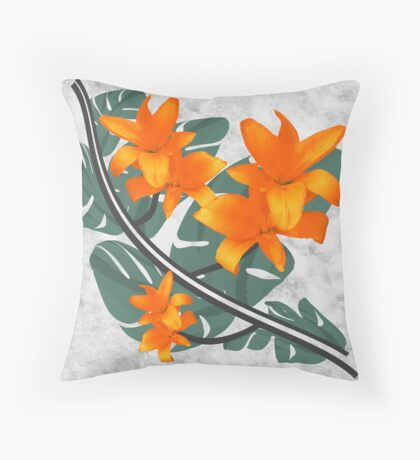 The Orange Wanderers Story Throw Pillow