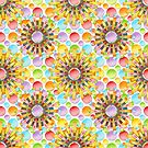 Sunflower Polka Dots by PatriciaSheaArt
