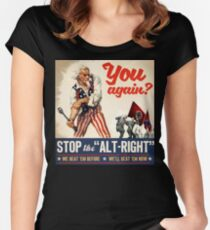 Stop the Alt Right - Antifa Women's Fitted Scoop T-Shirt