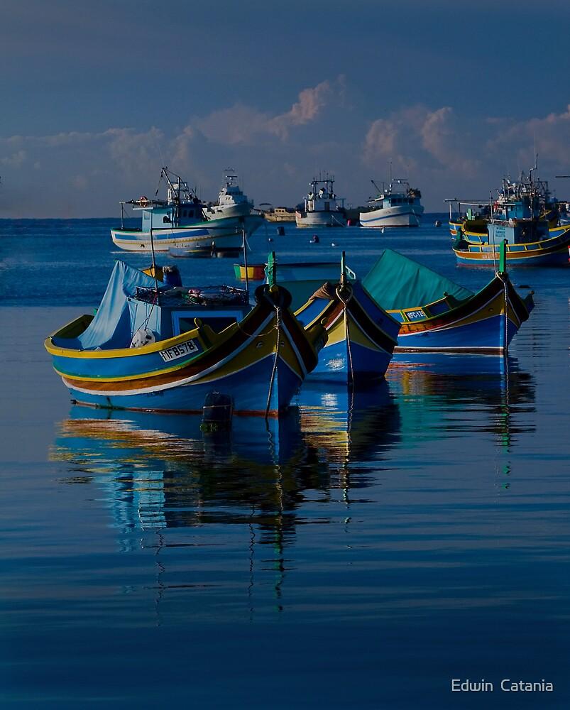 Luzzu Mediterranean Blue by Edwin  Catania