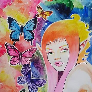 Fae and butterflies by Jules37