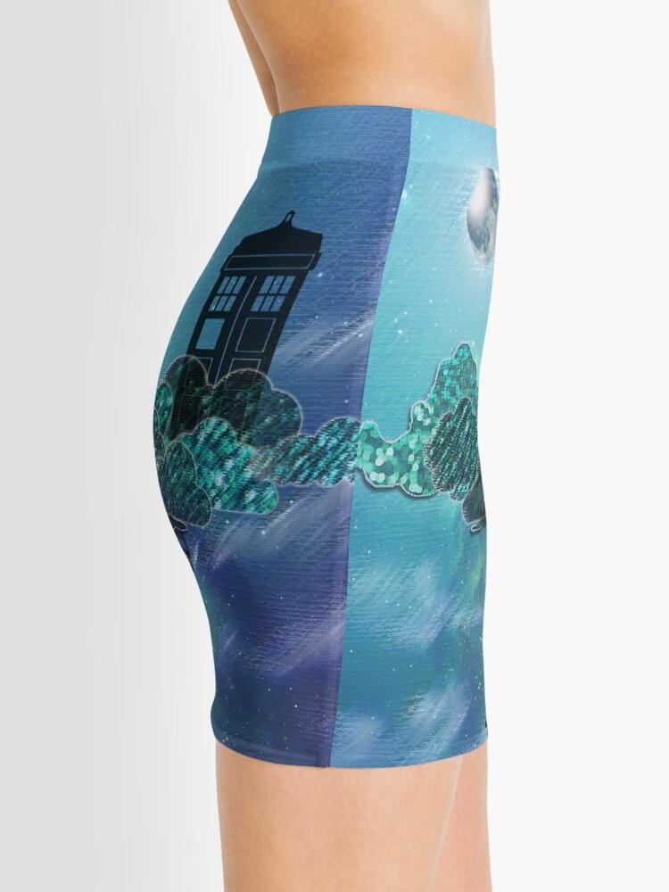 Vista alternativa de Minifalda Caja azul en el cielo victoriano