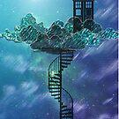 «Caja azul en el cielo victoriano» de Auroraneko