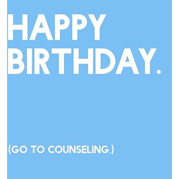 Birthday (GTC) Greeting Care - Blue by CXMH