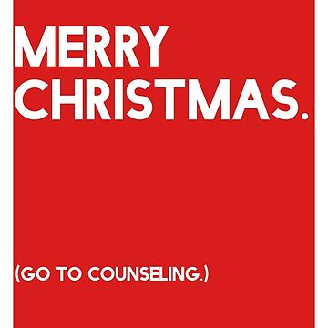 Merry Christmas (GTC) Greeting Card - Red by CXMH