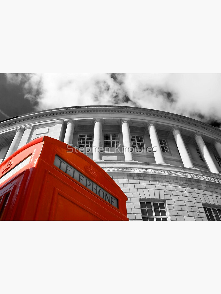 Red telephone box and Manchester library by stephenknowles