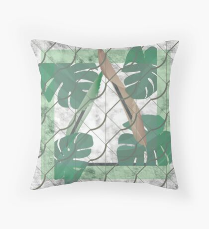 The Bond of Natural Leaves Throw Pillow