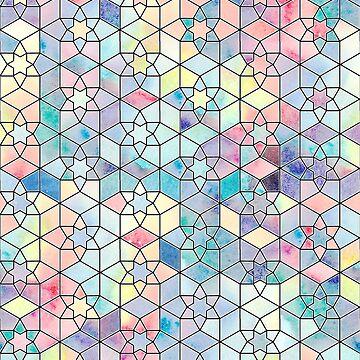 Rainbow Stars Tessellation by emmaallardsmith