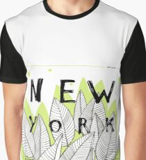New York with leaves Graphic T-Shirt