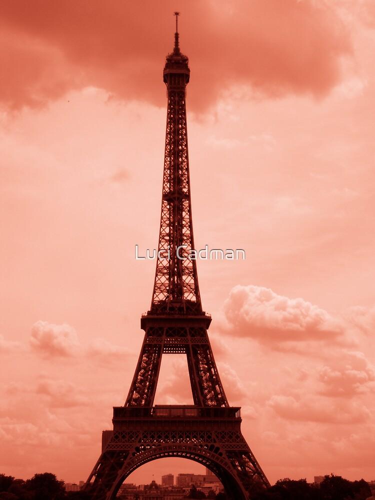Eiffel Tower- dusky hue by Luci Cadman