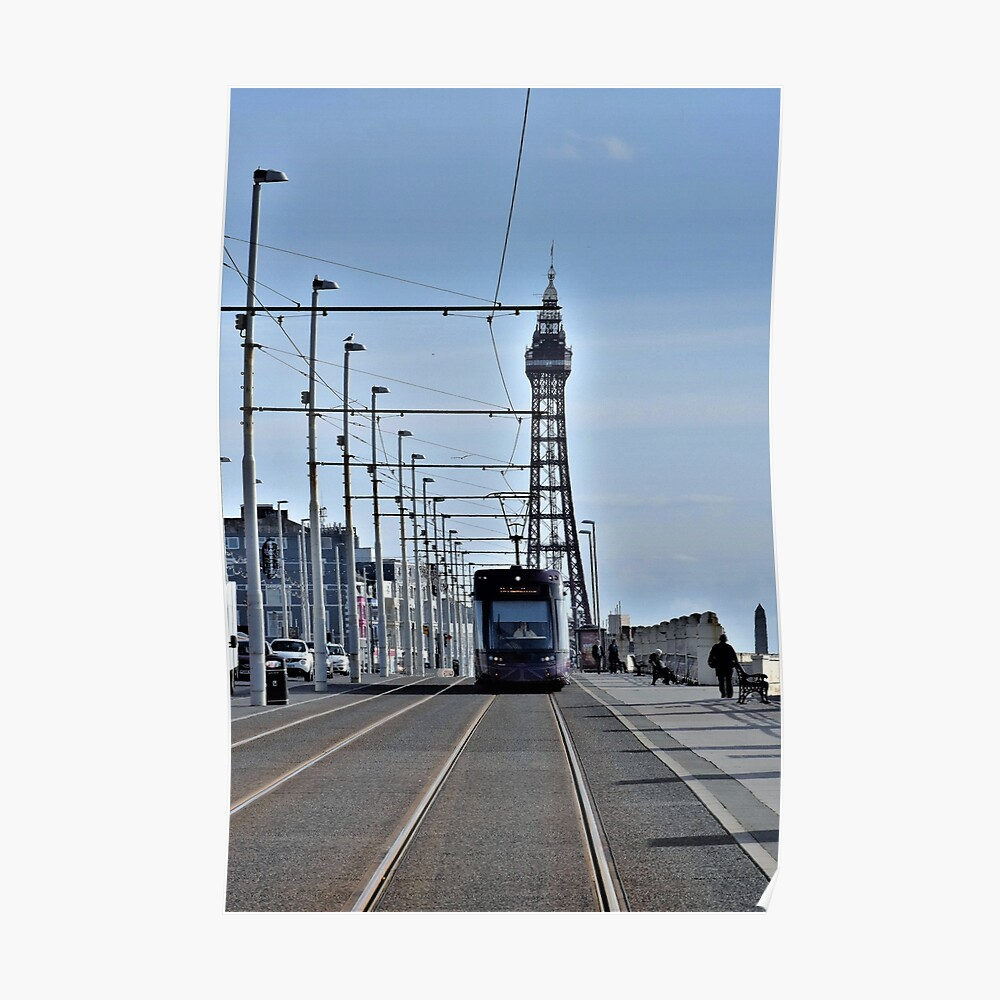 Blackpool Tower and Tram Poster