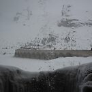 Waterfall and snow by Elena Martinello