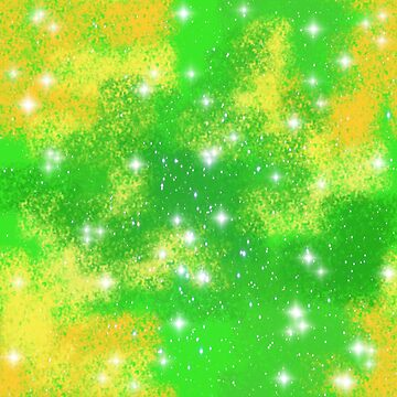 Lime Shine Galaxy pattern by LanDiMonk