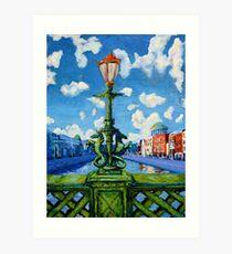 Dublin Hippocampus, Grattan Bridge, Ireland. Art Print