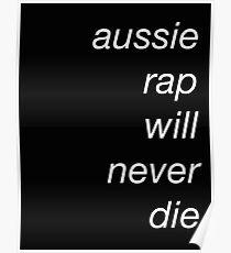 Póster el rap aussie nunca morirá