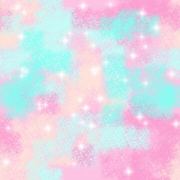 Pink Blue Shine Galaxy pattern by LanDiMonk