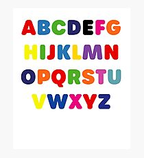 ABC Kids Products / Alphabet games Photographic Print