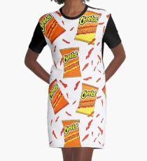Flamin 'Hot Cheetos Muster T-Shirt Kleid