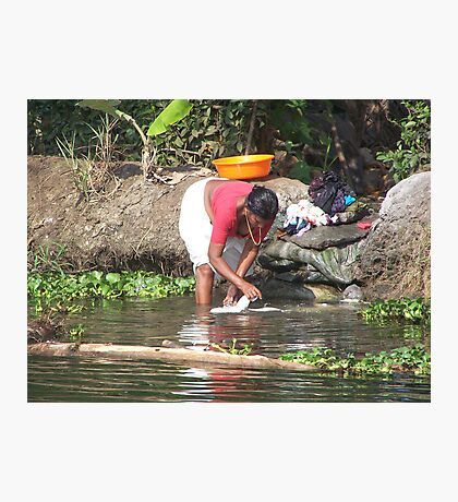 Life on the backwaters of Kerala Photographic Print