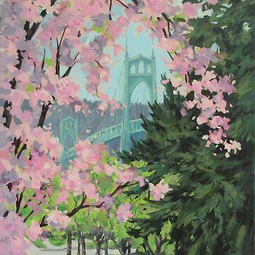 Blooming Bridge by karenilari