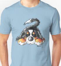 Cute Bernese Mountain Dog Puppy Cartoon Unisex T-Shirt