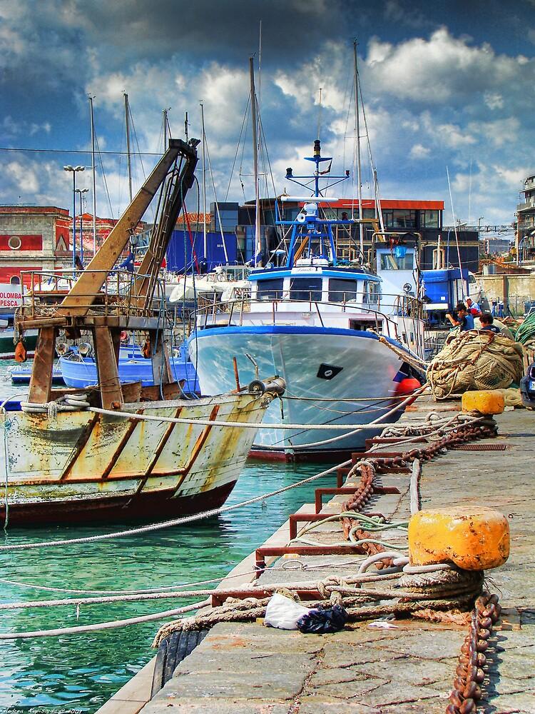 Barche ormeggiate al porto by rapis60