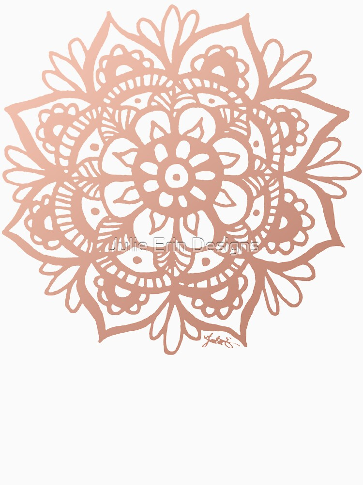 Rose Gold Mandala by julieerindesign