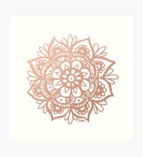 Lámina artística Mandala de oro rosa