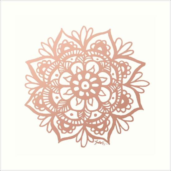Rose Gold Mandala von julieerindesign