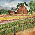 WA Tulip Fields in April by Diane Hall