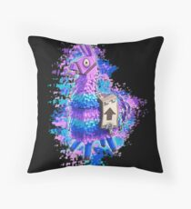 Fortnite Llama Water Color Throw Pillow