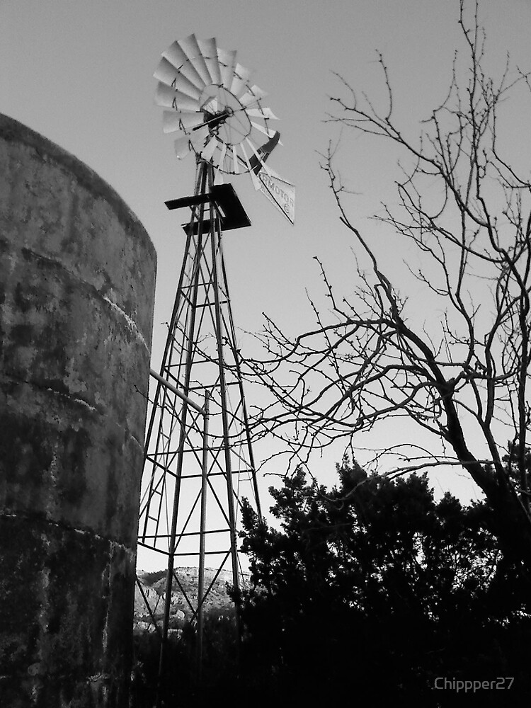 Windmill & Holding Tank by Cliff Lopez