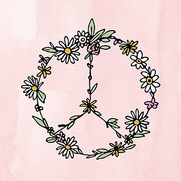 Watercolor Peace Sign Tapestry by aterkaderk