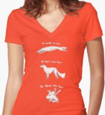 Three Flavors of Noodle Dragon Women's Fitted V-Neck T-Shirt