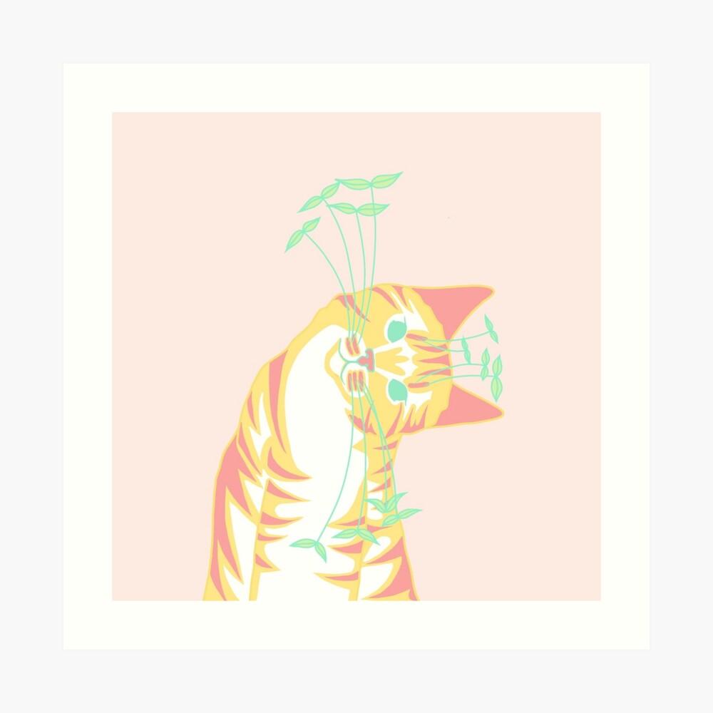 Natur Kitty Kunstdruck